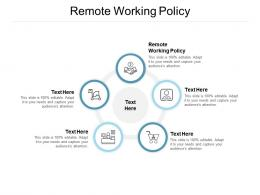 Remote Working Policy Ppt Powerpoint Presentation Infographics Outline Cpb