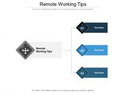Remote Working Tips Ppt Powerpoint Presentation Show Example Cpb
