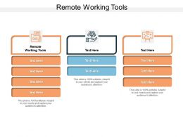 Remote Working Tools Ppt Powerpoint Presentation Infographic Template Infographics Cpb
