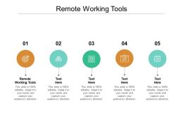 Remote Working Tools Ppt Powerpoint Presentation Infographics Example File Cpb