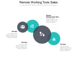 Remote Working Tools Sales Ppt Powerpoint Presentation Ideas Shapes Cpb