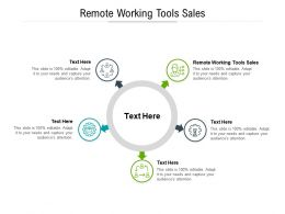 Remote Working Tools Sales Ppt Powerpoint Presentation Model Gallery Cpb
