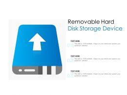 Removable Hard Disk Storage Device