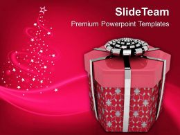 Render Of Christmas Gift PowerPoint Templates PPT Backgrounds For Slides 1113