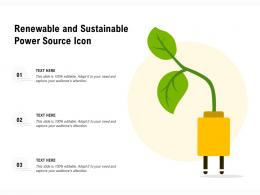 Renewable And Sustainable Power Source Icon