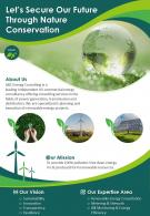 Renewable Energy Consulting Firms Two Page Brochure Template