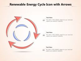 Renewable Energy Cycle Icon With Arrows