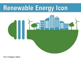 Renewable Energy Icon Alternative Sources Electrical Arrow Consumption Turbines