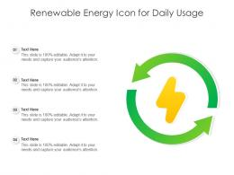Renewable Energy Icon For Daily Usage