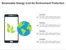 Renewable Energy Icon For Environment Protection