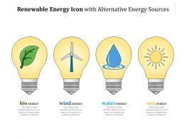 Renewable Energy Icon With Alternative Energy Sources