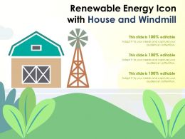 Renewable Energy Icon With House And Windmill