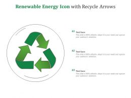 Renewable Energy Icon With Recycle Arrows