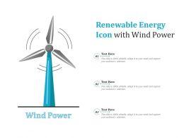 Renewable Energy Icon With Wind Power