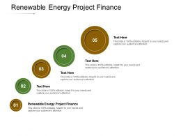 Renewable Energy Project Finance Ppt Powerpoint Presentation Inspiration Deck Cpb