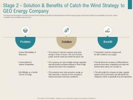 Renewable Energy Sector Stage 2 Solution And Benefits Of Catch The Wind Strategy To Geo Energy Company Ppt Image