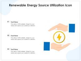 Renewable Energy Source Utilization Icon