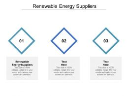 Renewable Energy Suppliers Ppt Powerpoint Presentation Model Tips Cpb