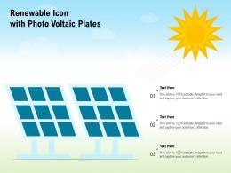 Renewable Icon With Photo Voltaic Plates
