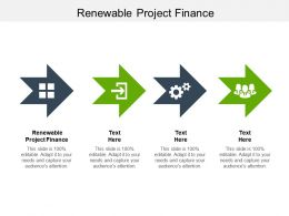 Renewable Project Finance Ppt Powerpoint Presentation Gallery Icon Cpb