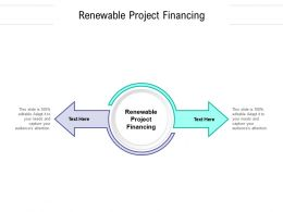 Renewable Project Financing Ppt Powerpoint Presentation Infographic Template Skills Cpb