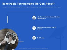 Renewable Technologies We Can Adopt Heat Ppt Powerpoint Pictures Elements