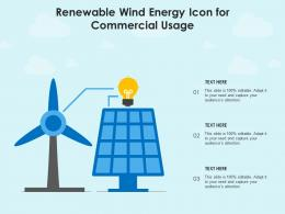 Renewable Wind Energy Icon For Commercial Usage