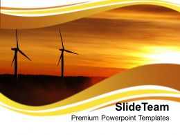 Renewable Windmills Environment PowerPoint Templates PPT Themes And Graphics 0213