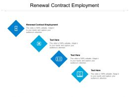Renewal Contract Employment Ppt Powerpoint Presentation Outline Maker Cpb