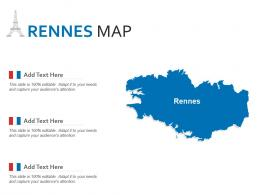 Rennes Map Powerpoint Presentation PPT Template