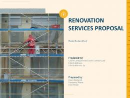 Renovation Services Proposal Powerpoint Presentation Slides