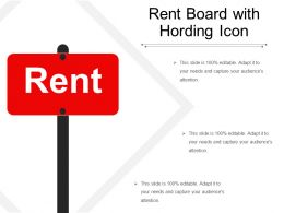 Rent Board With Hording Icon