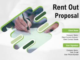 Rent Out Proposal Powerpoint Presentation Slides