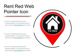 Rent Red Web Pointer Icon