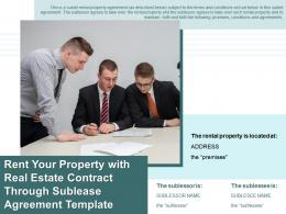Rent Your Property With Real Estate Contract Through Sublease Agreement Template