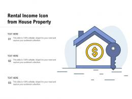 Rental Income Icon From House Property