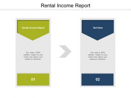 Rental Income Report Ppt Powerpoint Presentation Model Graphics Tutorials Cpb