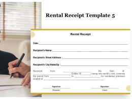 Rental Receipt A1275 Ppt Powerpoint Presentation Summary Format