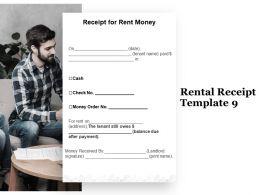 Rental Receipt A1277 Ppt Powerpoint Presentation Portfolio Graphics