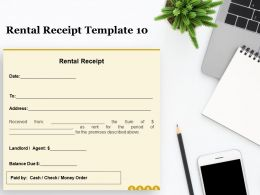 Rental Receipt A1278 Ppt Powerpoint Presentation Infographic Template Topics