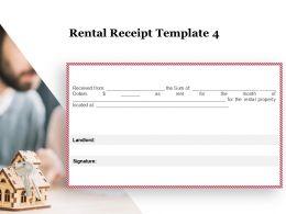 Rental Receipt Landlord Ppt Powerpoint Presentation Icon Mockup