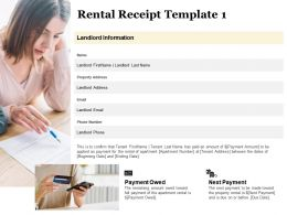 Rental Receipt Payment Owed Ppt Powerpoint Presentation Icon Information