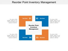 Reorder Point Inventory Management Ppt Powerpoint Presentation Template Cpb