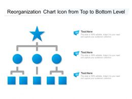 Reorganization Chart Icon From Top To Bottom Level