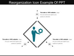 Reorganization Icon Example Of Ppt