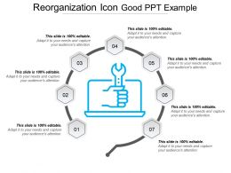 Reorganization Icon Good Ppt Example