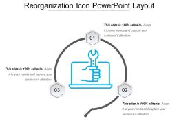 Reorganization Icon Powerpoint Layout