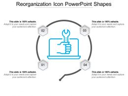 Reorganization Icon Powerpoint Shapes