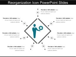 Reorganization Icon Powerpoint Slides