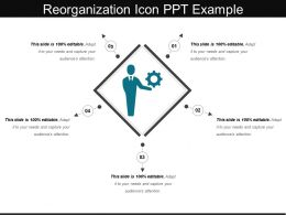 Reorganization Icon Ppt Example